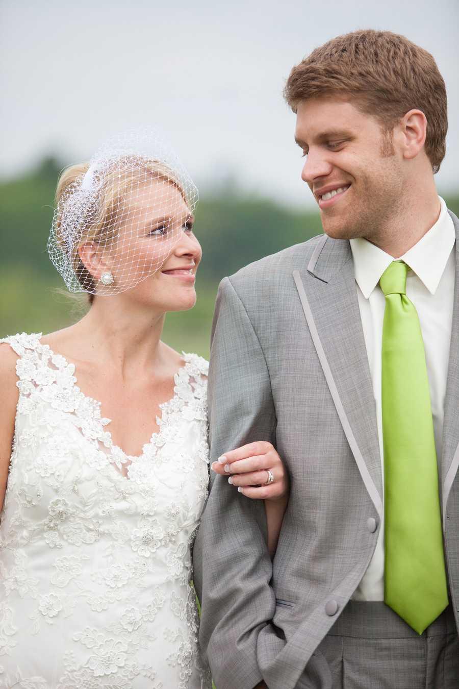 Liz got married last June to her college sweetheart, John.