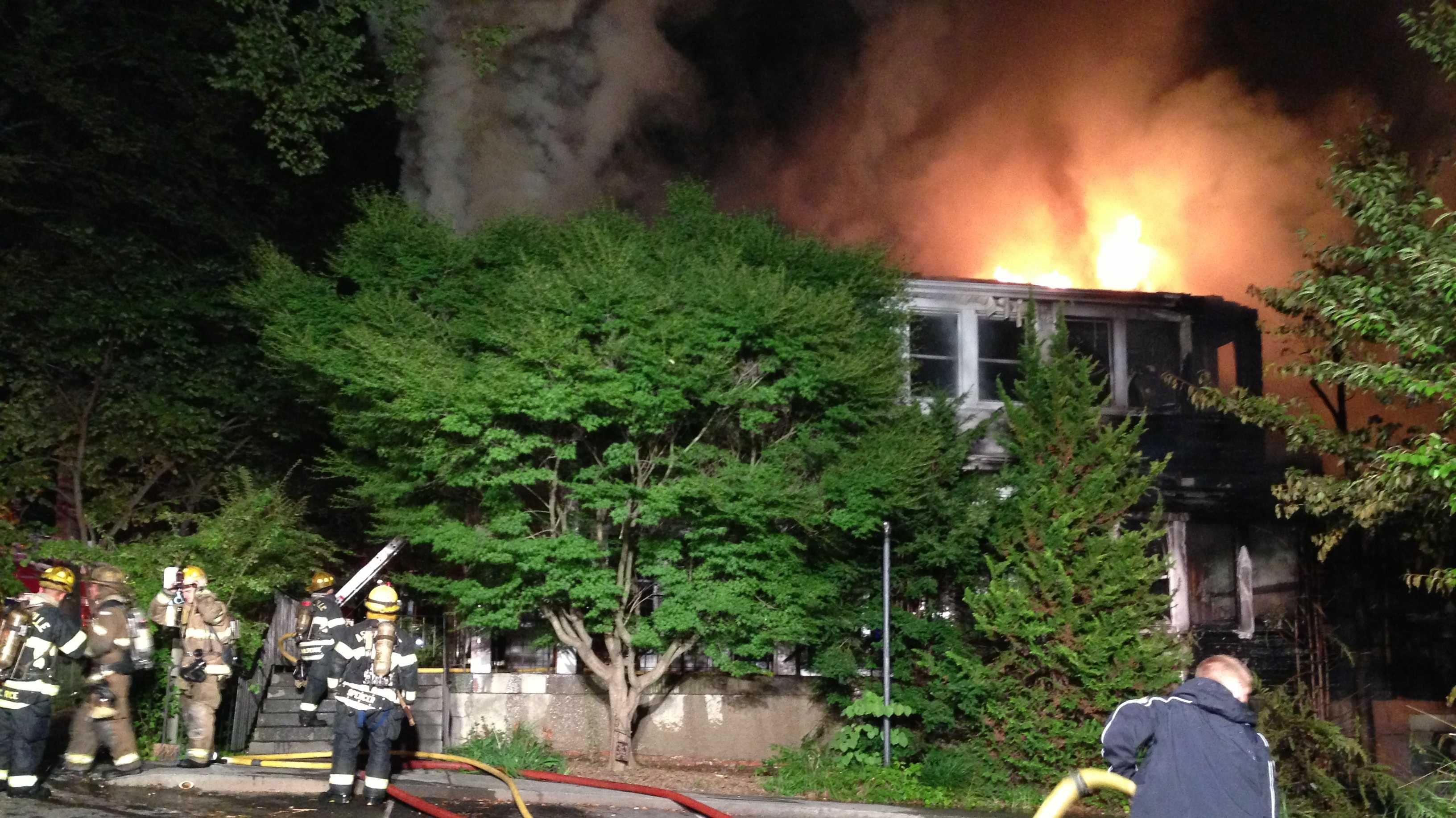 The fire was reported to 911 about 3:30 a.m. on Monday