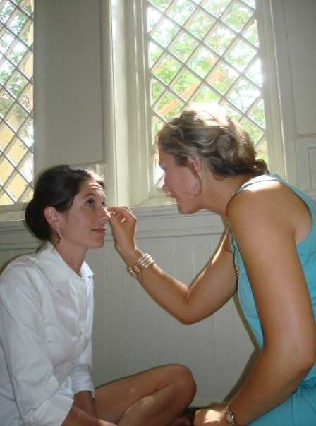 She has done makeup for many friends and family members' weddings.