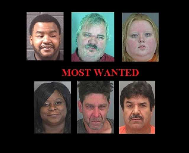 Here are some of the most wanted suspects in the Upstate and WNC.  (Note: Some law enforcement websites used as reference may not be up to date.)