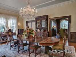 The large formal dining room is just off the living room and the covered patio can likewise be accessed from here.