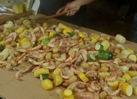 There is some debate over the origin of the Frogmore Stew name, but many say Richard Gay, of Gay Seafood Co., developed the recipe when cooking leftover for fellow National Guardsmen while on duty in Beaufort in the 1960s. He brought the recipe back to Frogmore, and gave out copies of it at his market, selling all the needed ingredients.