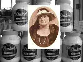 In 1917, during World War I, Eugenia Duke, who lived in Greenville, spread her homemade mayonnaise on sandwiches she sold to soldiers stationed at nearby Fort Sevier. The sandwiches were such a hit, soldiers wrote her asking for the recipe.