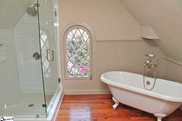 There are five full and one half bath.