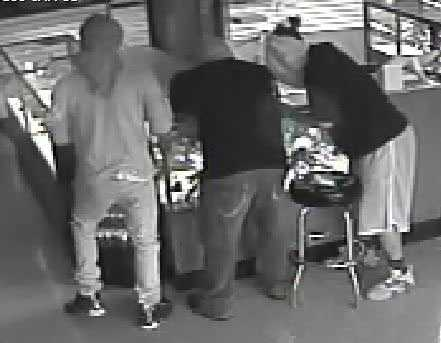 Check out images taken from surveillance video during the burglary and gun theft.