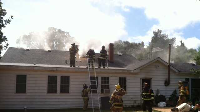 Several fire crews battled at 834 River Street just outside the Belton city limits on Sunday.