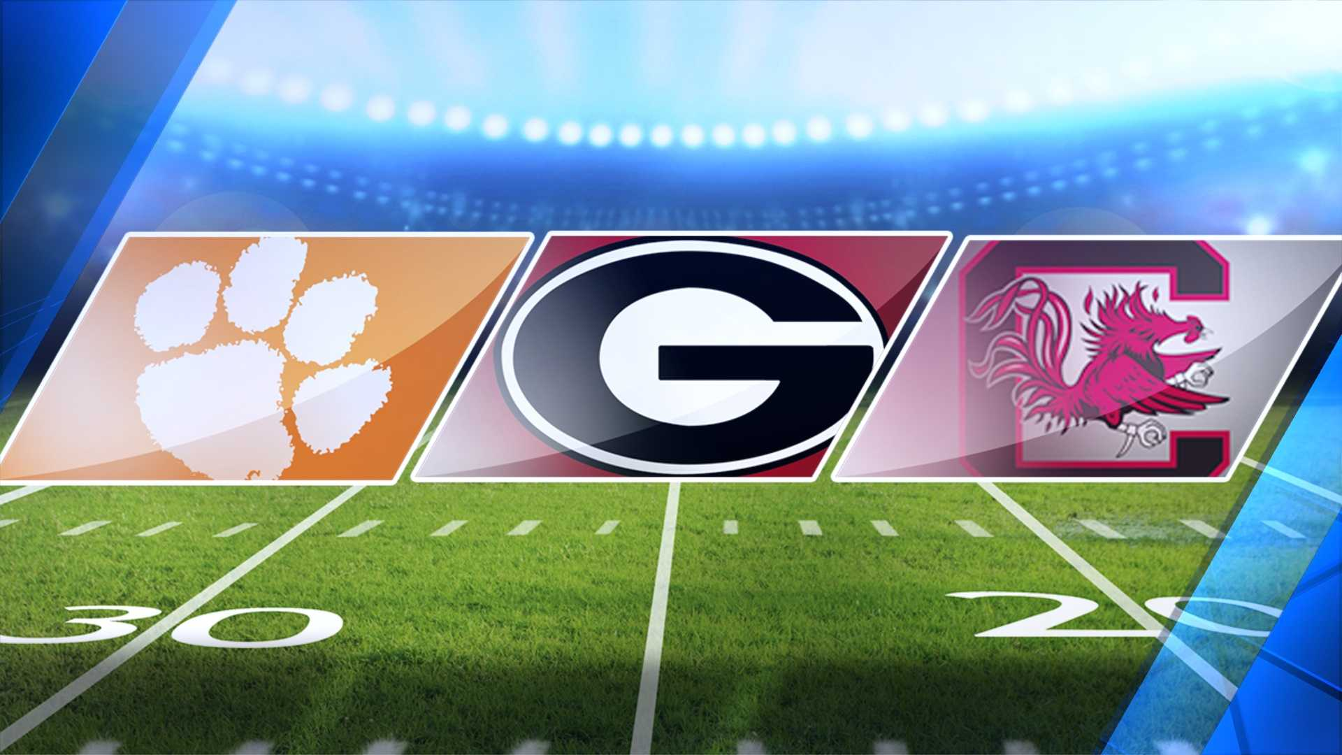 Clemson, Georgia and South Carolina together football
