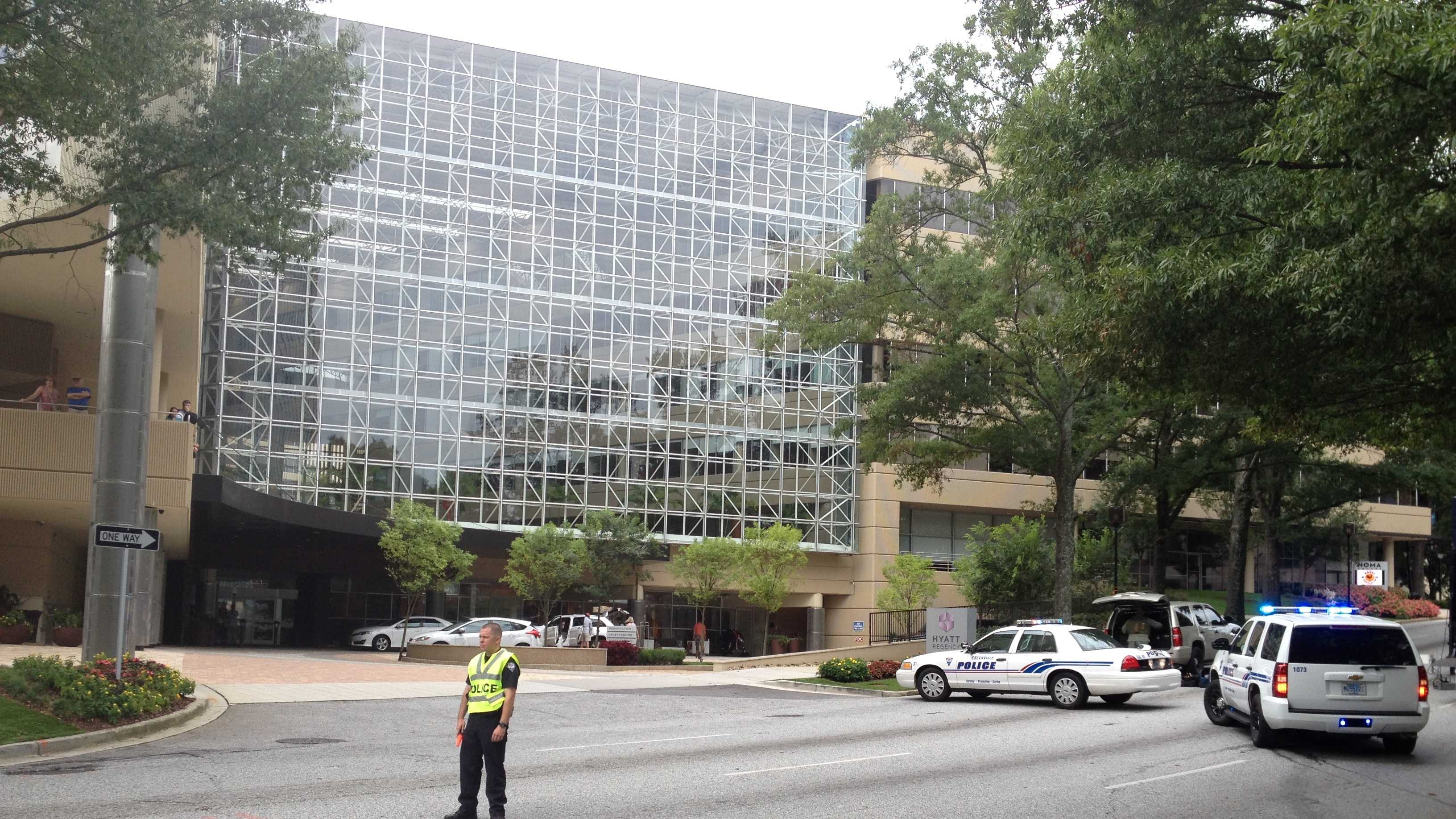Authorities in Greenville are redirecting traffic in part of downtown Greenville.