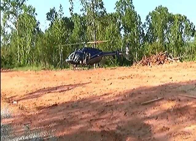 Scene where bodies were found in Wilcox County, Alabama.