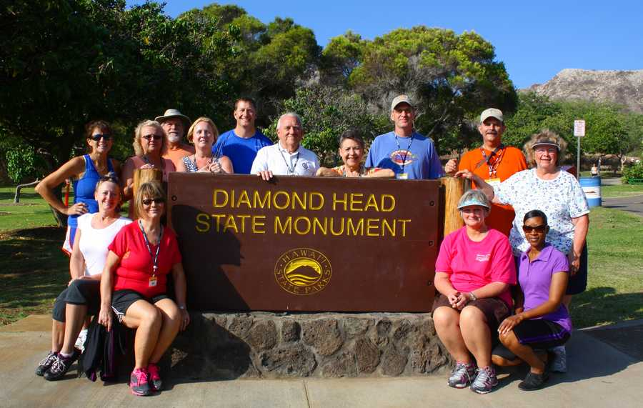 """Steph feels """"blessed"""" to be with WYFF 20 years this fall! And feels extra blessed to take annual trips with WYFF viewers. She knocked off her 50th state in Hawaii recently, where these viewers summitted Diamond Head near Honolulu to watch the sun rise."""
