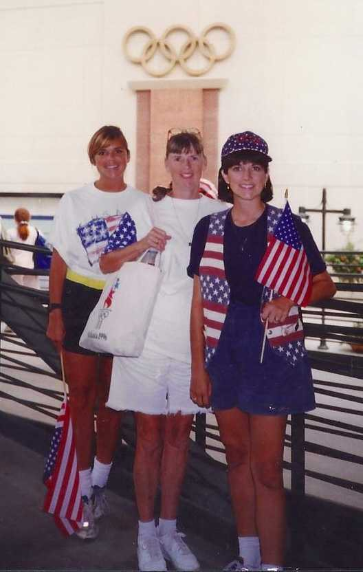 """Her favorite """"beat"""" of her long career has been covering the 1996 Olympic games for WYFF, an assignment that actually ran 2 years. On her one day off during the games, she watched the U.S. Women win the gold in soccer with her mom, sister and the rest of the Trotter Tribe."""