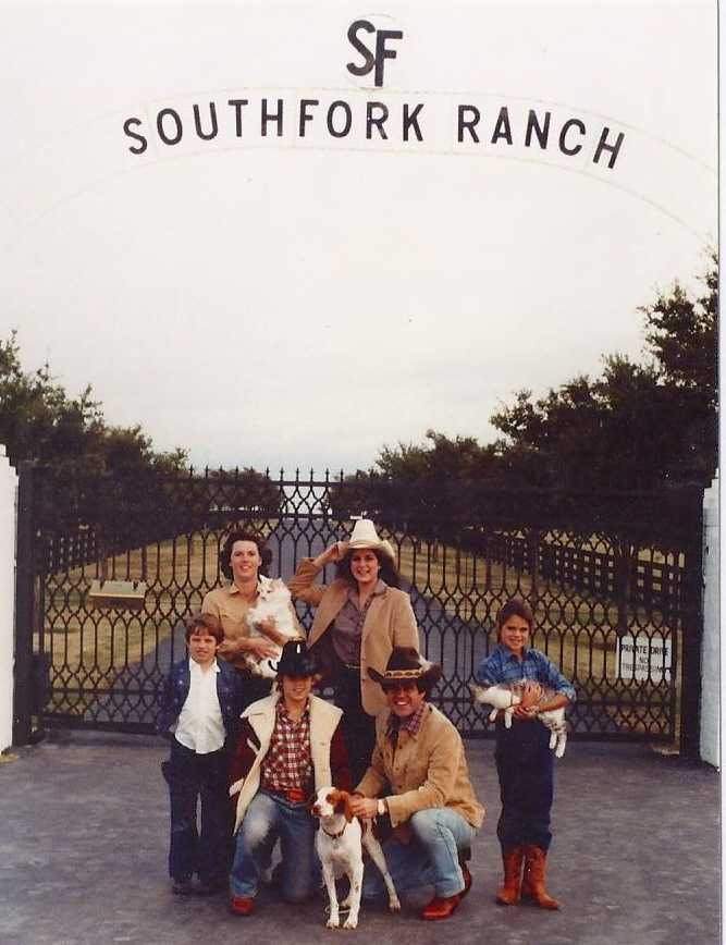 Back in the states, Stephanie grew up in Dallas, Texas in the suburbs just south of well... Southfork. This photo was a family Christmas card from 1980. Steph is the one with the hat.