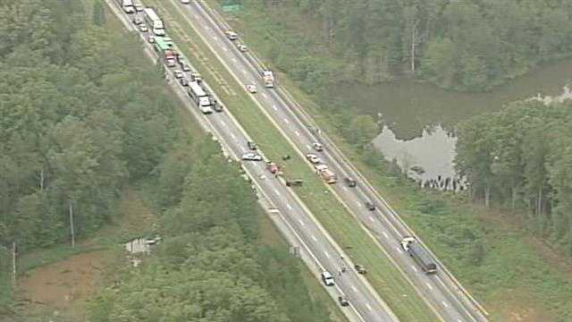 A deadly accident shut down all westbound lanes of Interstate 26 in Spartanburg County early Monday morning.