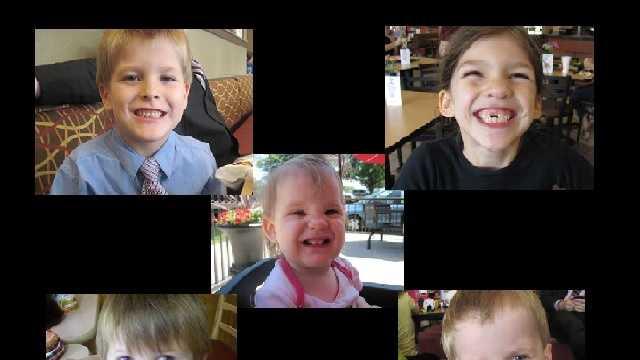 Merah, 8, Elias, 7, Nahtahn, 6, Gabriel, 2, Abigail, 1