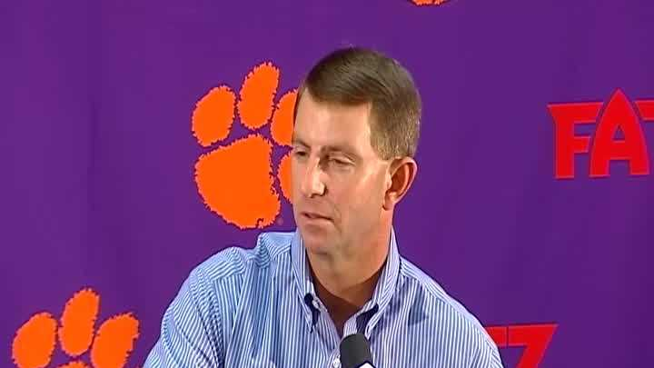 Clemson Head Coach Dabo Swinney's press conference about Florida State University Part 2