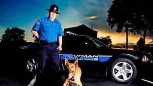 The Lyman Town Council promoted Lt. Jay Hayes, pictured with his K9, Buzzer, to the position of chief during a special meeting on Tuesday.