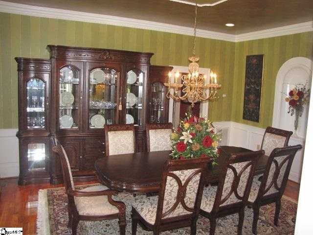 The kitchen is 17' by 14' with a 19' by 12' breakfast room. There is a 19' by 17' formal dining room.