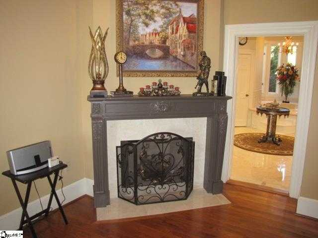 There are five fireplaces in the home.