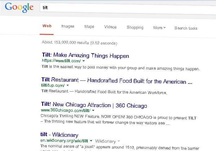 "If you type ""tilt"" or ""Askew"" in the Google search bar, and watch the page go slightly off kilter"