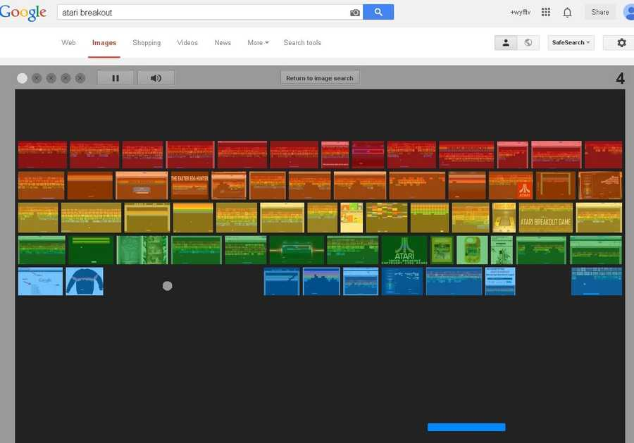 "If you're bored and looking for a fun flashback to the 1970s, do a Google image search with ""Atari breakout,"" and let the fun begin!"