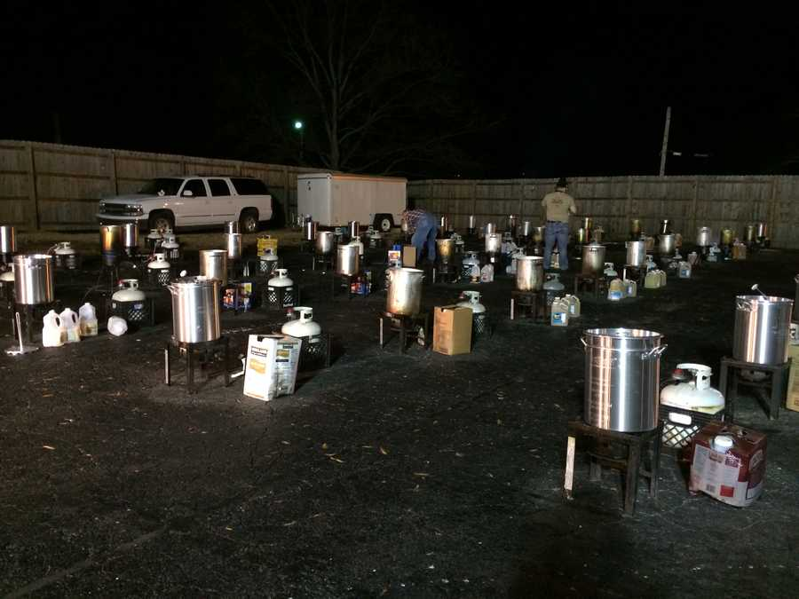 Hundreds of fryers fired up early Tuesday morning for the Miracle Hill Thansgiving Trukey Fry in Spartanburg.