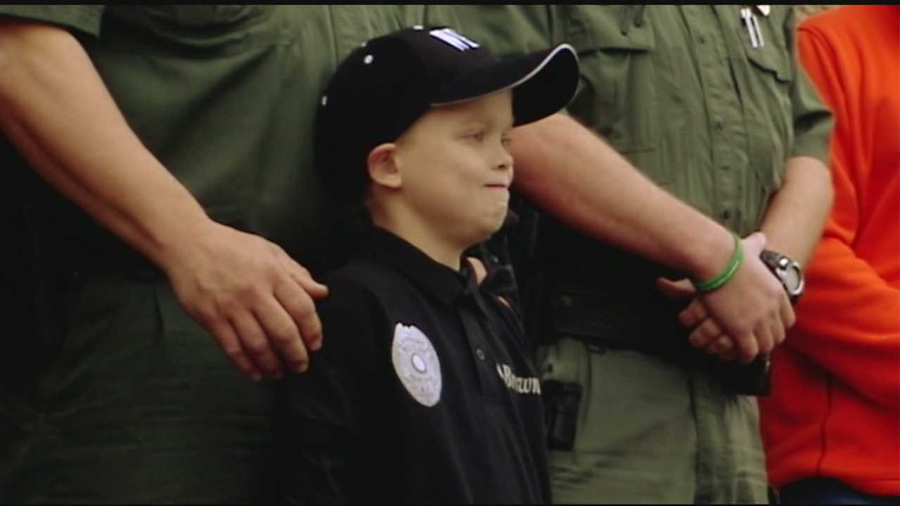 An Upstate 10-year-old waiting on a heart transplant was named an honorary officer on the West Pelzer police force.