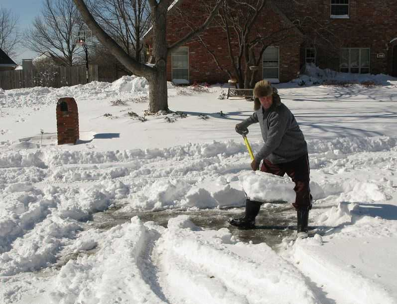 Shoveling involves exposure to the cold, which is another cardiac stressor.