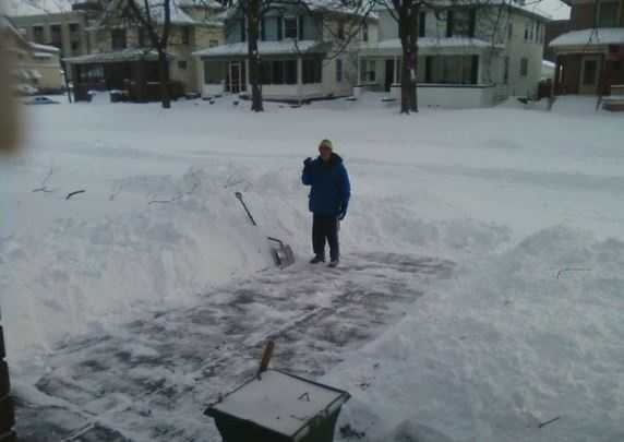 If you have to shovel, listen to your body. Stop immediately if you experience chest pain, palpitations, shortness of breath, fatigue, lightheadedness, or nausea.