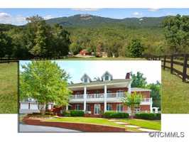 This equestrian estate in Landrum, with a large main home and a guest house, is listed for sale on Realtor.com.