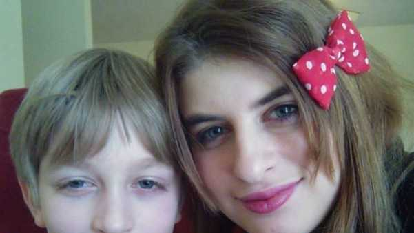 Two of the victims, Martin, 10, and Martina Curcio, 19.