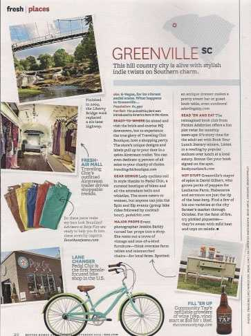 "Better Homes and Gardens- Fresh Places- The single largest consumer magazine featured our destination's ""stylish indie twists"""