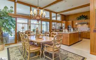 The kitchen is 15' x 15' with a 19' x 12' breakfast room.