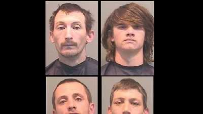 Thomas Boulware, Nicholas Lemons, Joshua Moore, Jonathan Walden: Accused of burglarizing neighbors' homes