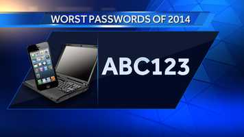 #14: abc123 is down 9 on the list from 2013