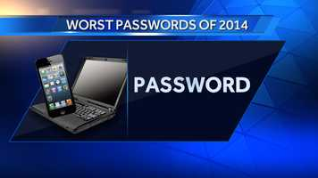 #2: password was also #2 last year