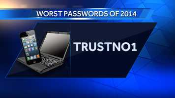 #25: trustno1 was #24 on the list in 2013
