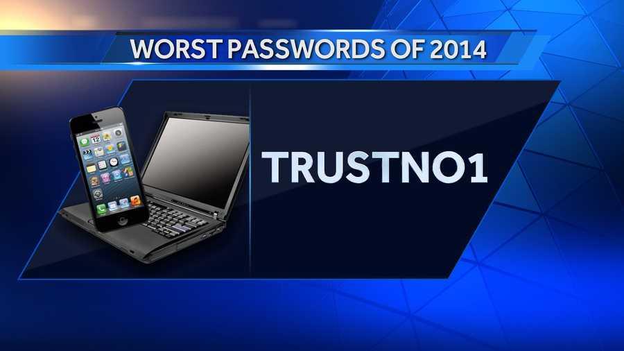 #25: trustno1 was #24 on the list in 2013