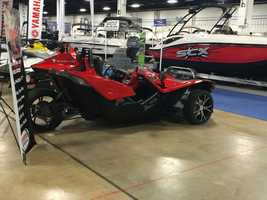 The Sling Shot is made by Polaris, and is not a boat at all. Rather, it's a three-wheeled mega-cycle that is street-legal.