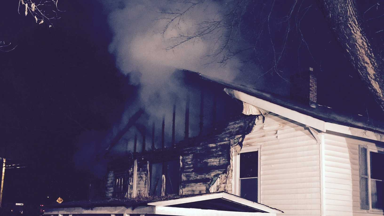 Fire investigators are looking into a fire that destroyed a home on Strickland Avenue.