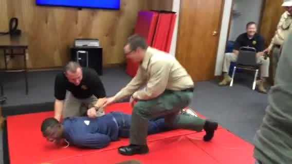 WYFF News 4's Corey Davis volunteered to get Tased during Greenville County Sheriff's Office training day for news media.
