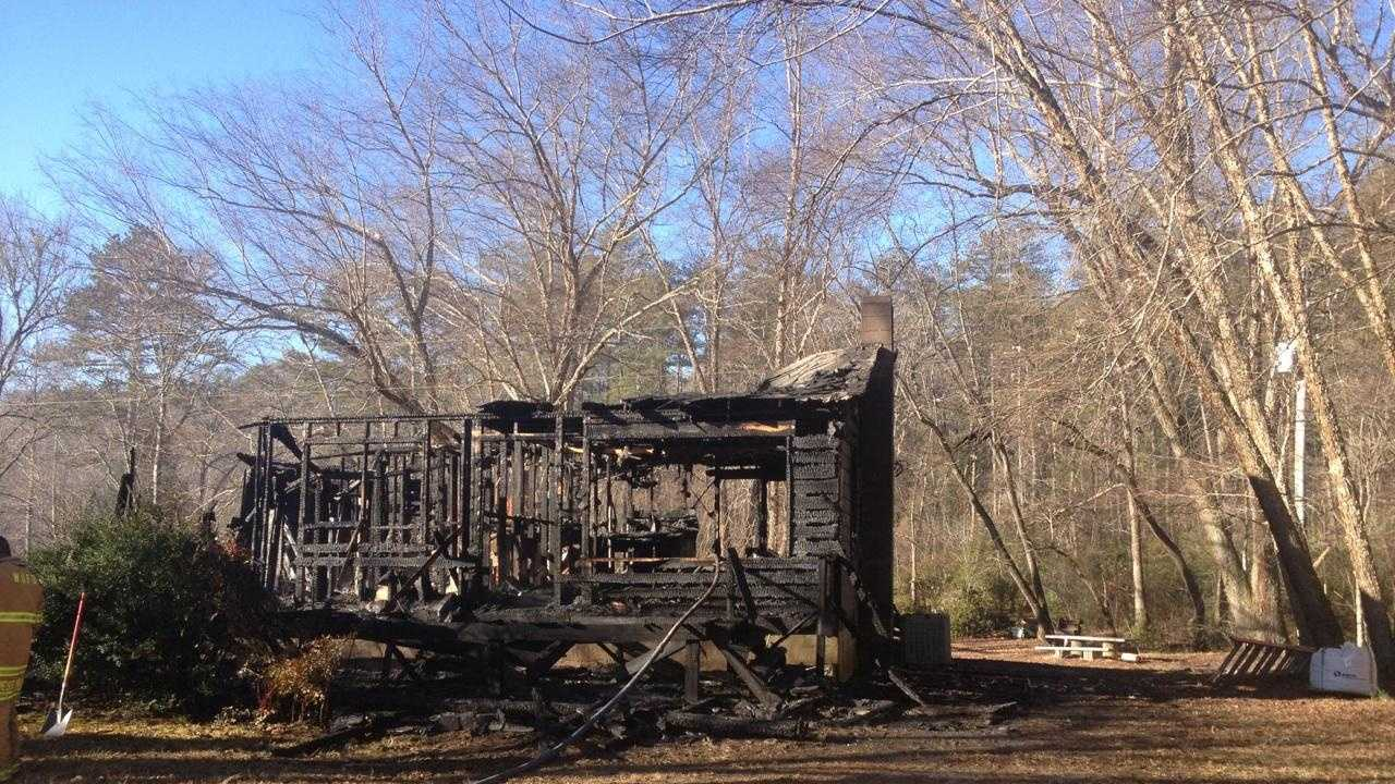 Oconee County firefighters are trying to determine what caused a blaze that destroyed a home.