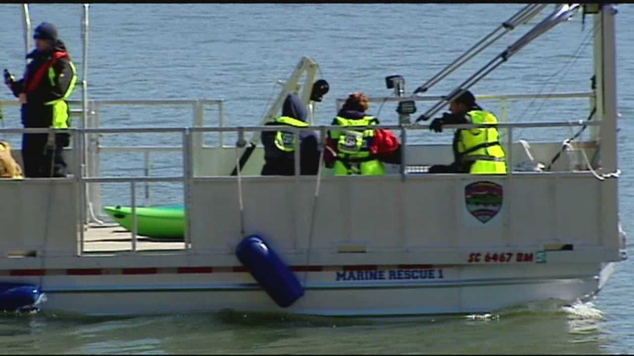 Crews found kayak