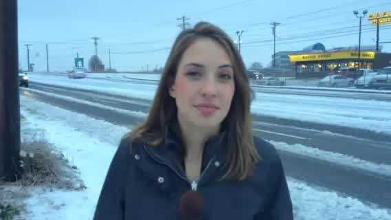 WYFF News 4's Aly Myles is updating the road conditions in Greenville County.