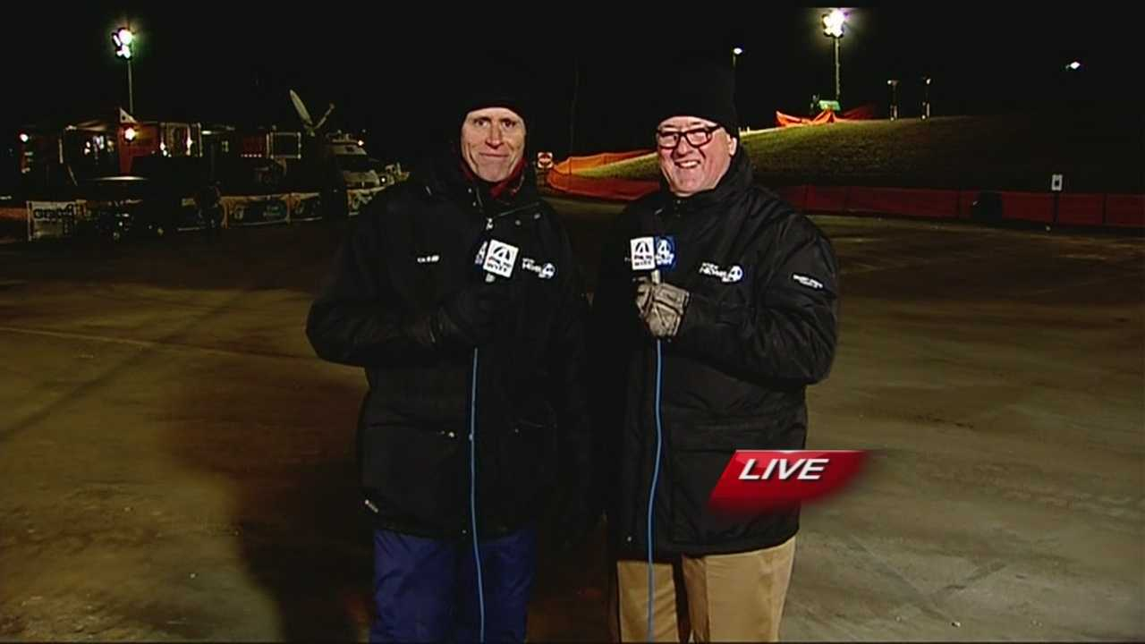 WYFF News 4's Geoff Hart, Dale Gilbert and Aly Myles report live at a blistering cold Lake Hartwell on the first morning of the Bassmaster Classic.