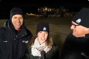 Geoff, Aly Myles and Dale reported live in record-breaking temperatures starting at 4:30 a.m.