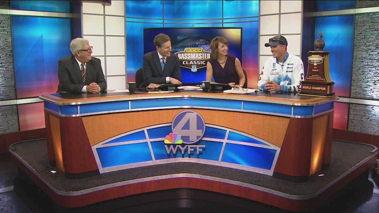He took the top prize at this weekend's Bassmaster Classic, then Casey Ashley, of Donalds, stopped by WYFF News 4 Today to show it off, and thank his fans.