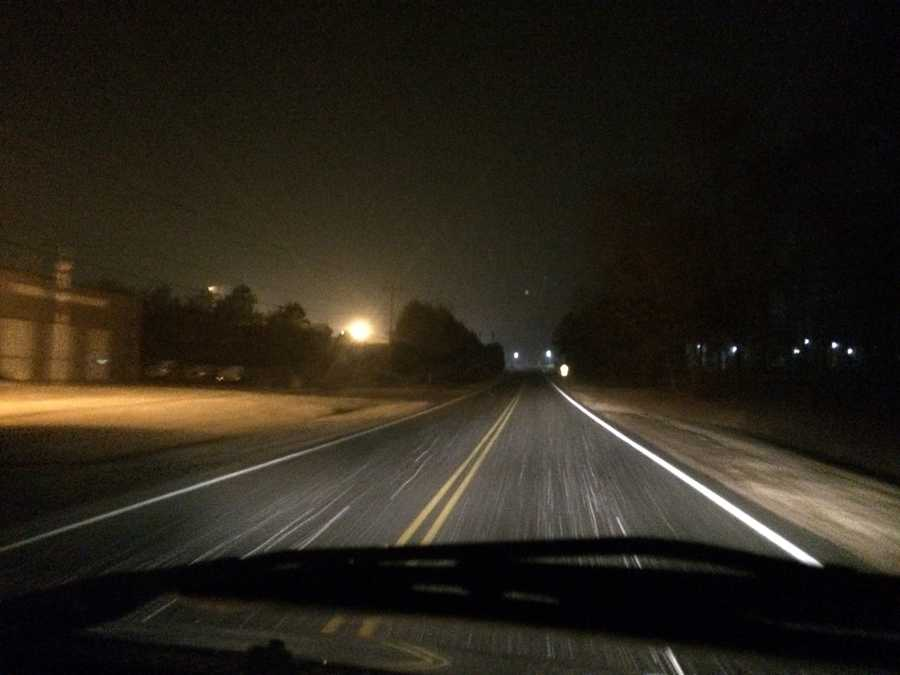 Snow driving in North Greenville