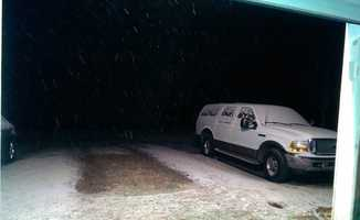 Snow from Blessed Broken rd in Tigerville
