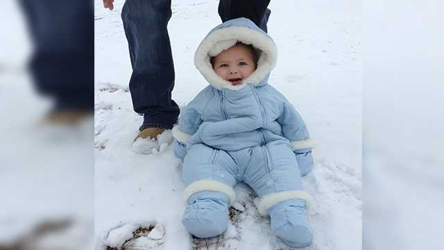 Ryan's first snow.