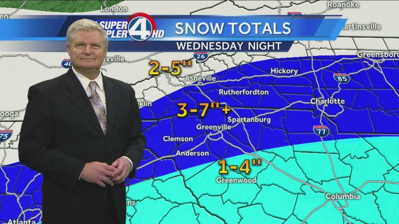 Another storm system is on the wayfor our area on Wednesday night…rainwill mix with snow and then changeto all snow overnight. I'm forecasting3 to 7+ inches of snow across most ofthe region.